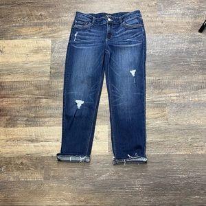 White House Black Market Slim Crop Jeans Size 6